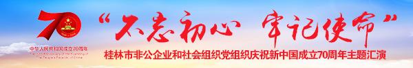 """直播回顾:""""不忘初心·牢记使命""""桂林市非公企业和社会组织党组织庆祝新中国成立70周年主题汇演"""